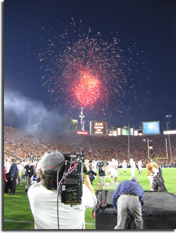 rose bowl fireworks