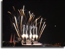Ontairio mall fireworks show video